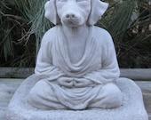 Concrete Buddha Dog Statue