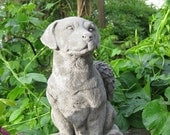 Large Concrete LABRADOR RETRIEVER ANGEL Memorial Statue ( West of the Mississippi River)