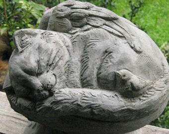 Concrete CAT ANGEL Statue