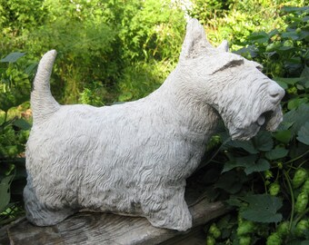 Concrete Large Scottish Terrier Dog Statue (Shipping is for East of the Mississippi River)