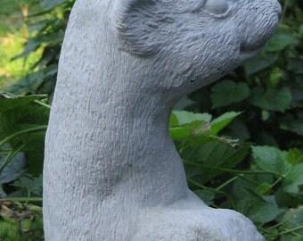 Concrete Standing FERRET Statue