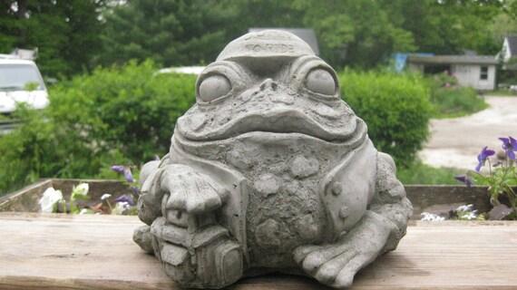 Concrete Large Biker Frog
