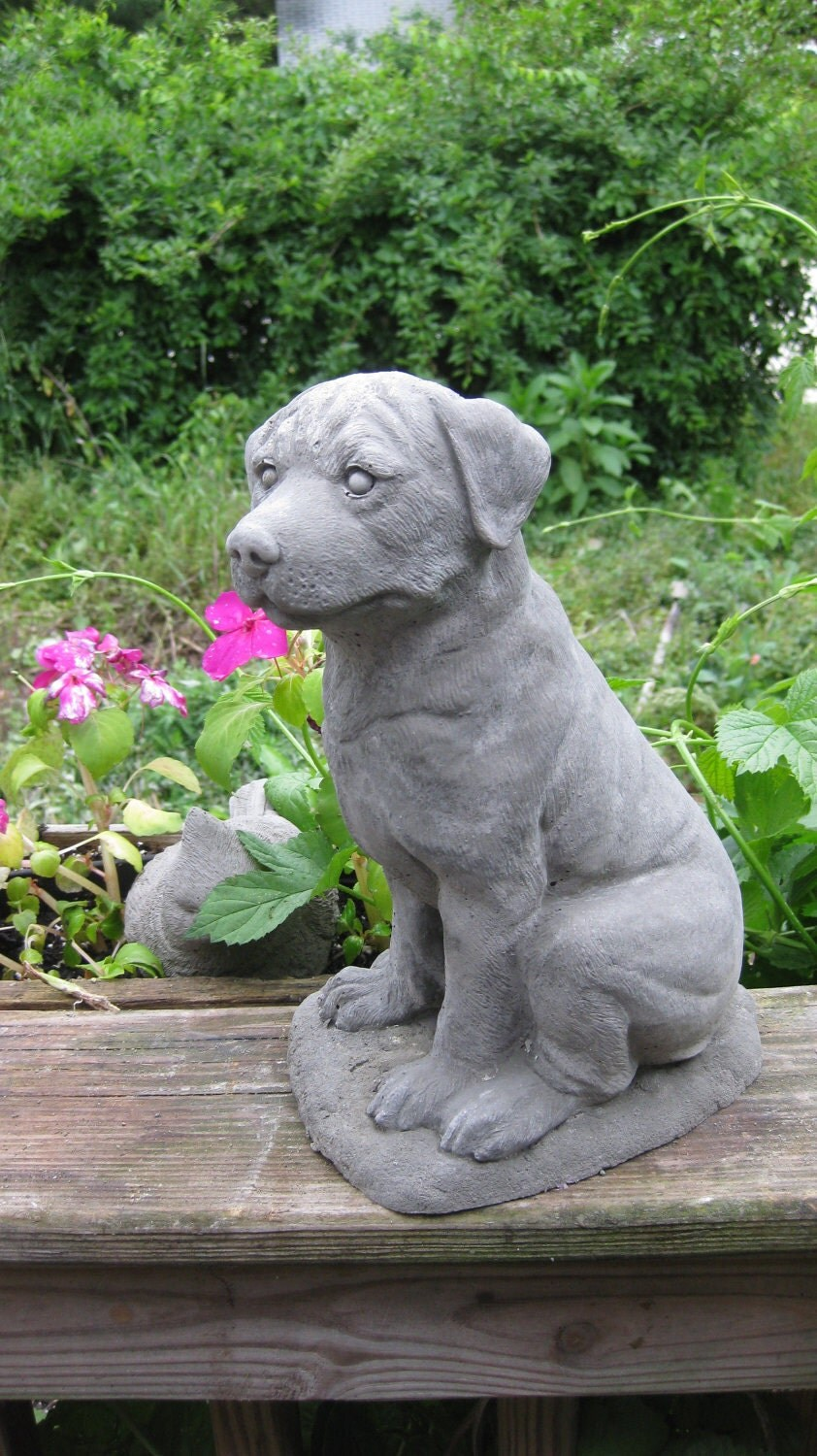 large concrete sitting rottweiler statue shipping is for west. Black Bedroom Furniture Sets. Home Design Ideas