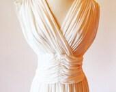 50s Marilyn Monroe  dress of white nylon