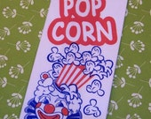 60 Vintage Clown Popcorn Bags