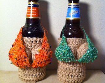 Removable, Handmade Crocheted Mini Bikini Top  For a Boobie Coozie --BIKINI ONLY---(Boobie Coozie available on a SEPARATE listing)