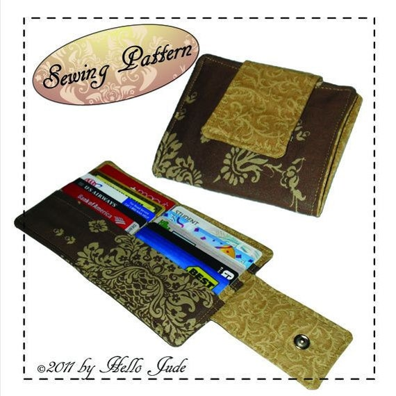 Credit Card Case/Wallet PDF Sewing Pattern Instant By