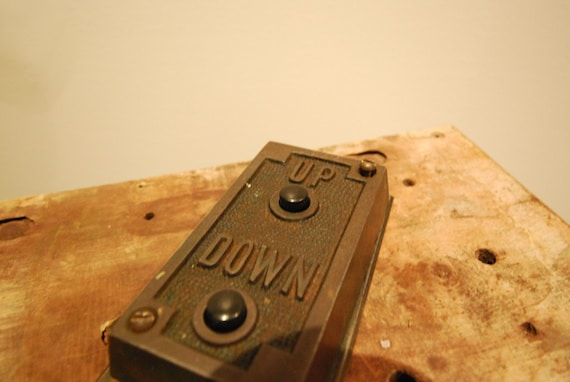 Vintage Elevator Button And Switch Plate