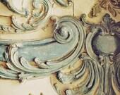 """Rococo Blue Lace. Fine Art Photography. Marie Antoinette. French Decor. Château Versailles Paris. Baby Blue. Wall Art. Home Décor. Size 5x7"""""""