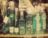 Green Absinthe. Fine Art Photography. Absinthe Cocktail. Bohemian Drink. Green Fairy. Jade Bottles. Prague. Home Décor. Wall Art. Size A4