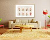 "Pink Meringues. Art Print. Fine Art Photography. Dessert. Shabby Chic. Spring Décor. Nursery Art. Kitchen Art. Size 50"" x 32"""