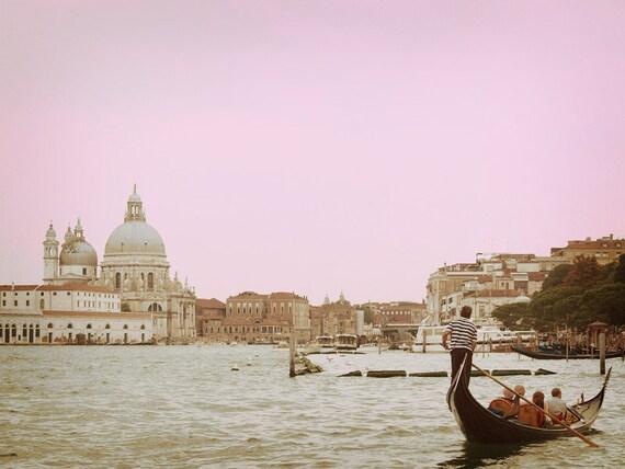 Giorgio Maggiore. Venice Photo. Italy. Fine Art Photography. Dreamy Pink. Shabby Chic. Wall Art. Size A4