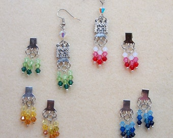 Inter-Changeable Color Earrings