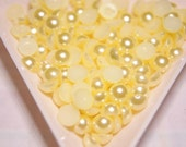 BLOWOUT SALE Baby yellow flatback pearls 6mm - 250 pcs