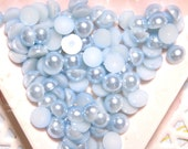 BLOWOUT SALE  Steel blue flatback pearls 6mm - 250 pcs