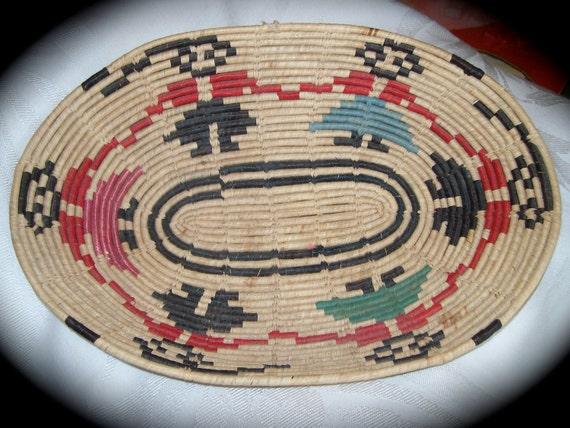 Vintage Mexican/ Southwestern  Indian Coil Basket