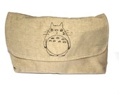 Totoro embroidered clutch