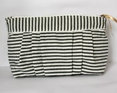 Pleated Striped Seersucker Pouch