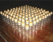 "100 Glass Bottles 3ml 1.4"" Vials with Corks Miniature"
