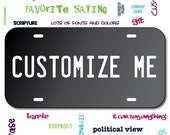 Mirrored Acrylic License Plate Black Car Tag Mirror Custom Personalized Vehicle Business Logo Monogram Engagement Announcement Wedding