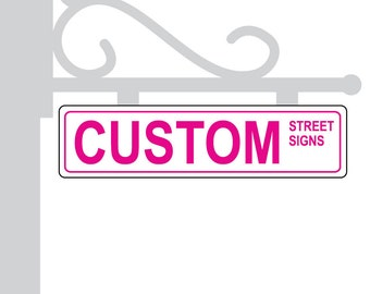 Metal Street Sign Custom White Personalized Gift Unique Wedding Table Centerpieces Numbers