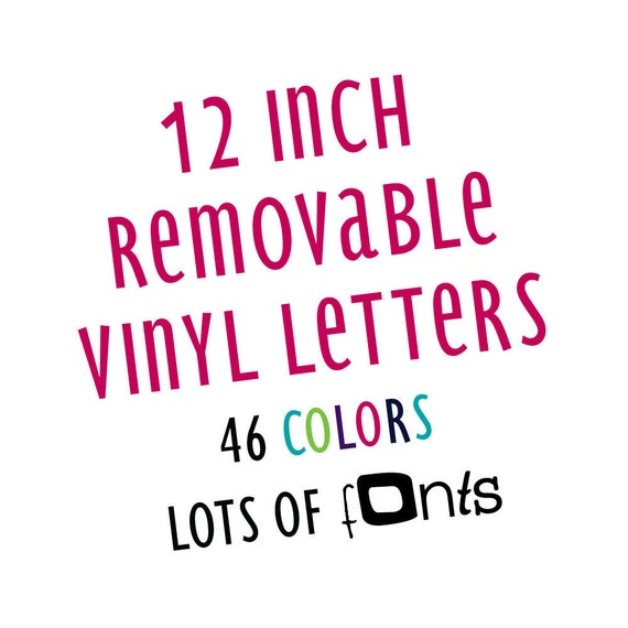 12 inch custom removable vinyl wall letters by rightsidestuff With 12 inch vinyl letters