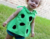 Pebbles Costume -Halloween-PRE-Order -Top and Bottom-Bone Hair Clip Included - baby - toddler - girl-PRE-Order