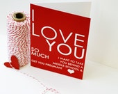 Adult Greeting Card Funny Love Card I Love You Greeting Card - Adult - Red Heart Greeting Love Card Wedding Anniversary Valentines Day