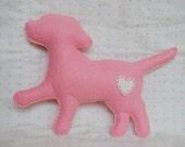 Sweet Puppy Love mini--pocket pal, pink, white