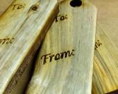 Beetle Kill Pine Wood Gift Tags (set of 6)