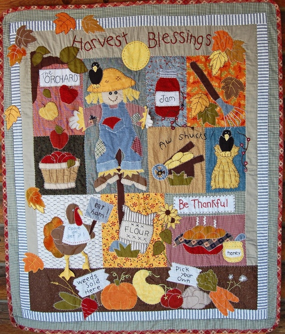 Rest and Be Thankful, an idea as beautiful as this harvest quilt pattern