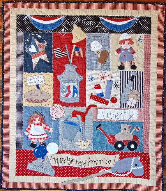 An Americana Stars 'n Stripes Forever quilt pattern to feel that patriotic pride