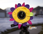 Shutter Buddies FLOWER with SQUEAKER camera bling for lens- Ready to ship