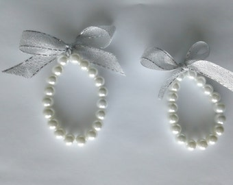 Flower Girl Bracelets-  Custom set of 2 Also ideal for photo prop, baptism or any other special occasion