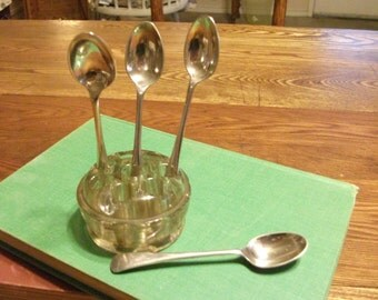 Vintage silverplate demitass spoons from Susanshed on etsy