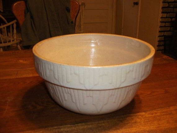 vintage large earthenware mixing bowl