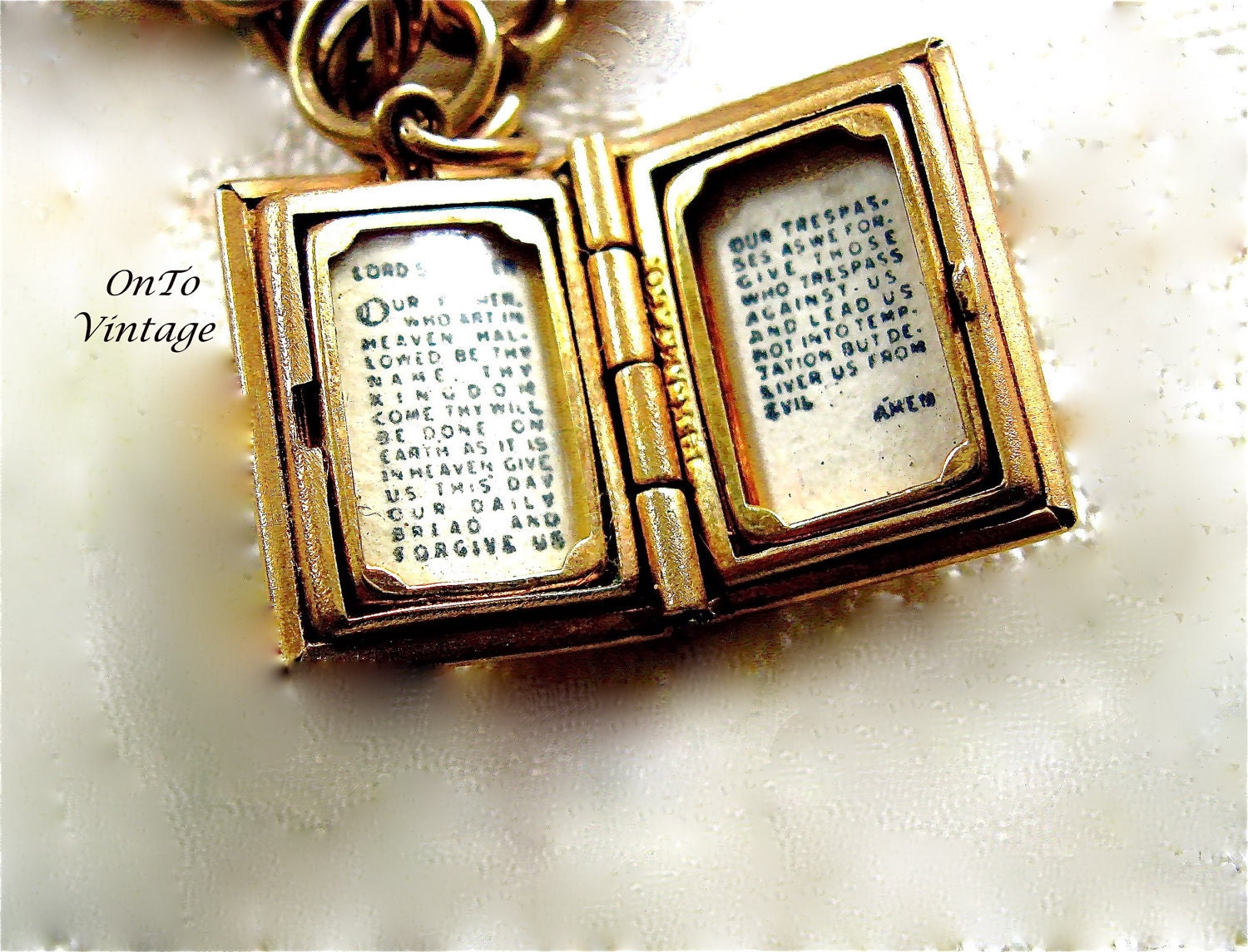 vintage 14k gold lord 39 s prayer book jewelry charm