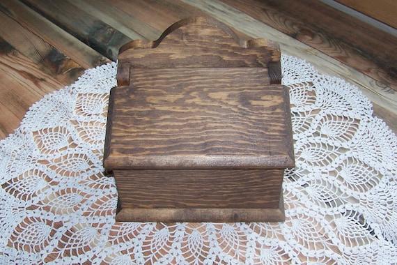 recipe card box wooden handmade