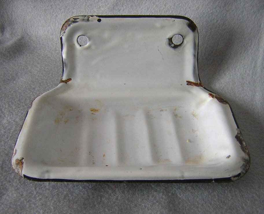 Antique Agateware Wall Mount Soap Dish Bathroom Or Kitchen