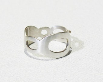 Sterling Silver Hand Cut Joining Circles Ring