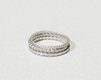 Sterling Silver Ring Stackable Twisted