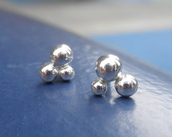 Star Constellation Bubble Earrings Silver Balls