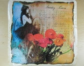 Set of Four Beautiful Ladys Old World Coasters Romantic  Scenes FREE US Shipping