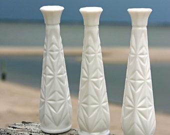 Diamonds Are Forever: Milk Glass Vases