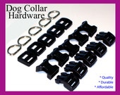Dog Collar Hardware Supplies, 10 Sets of Dog Collar Hardware, Dog Hardware, Pet Hardware,