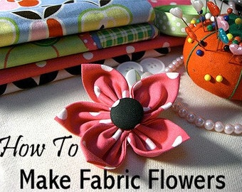 Dog Collar Fabric Flowers - Instant Download - Instructional Guide on How to Make this Perfect Pet Collar Accessory