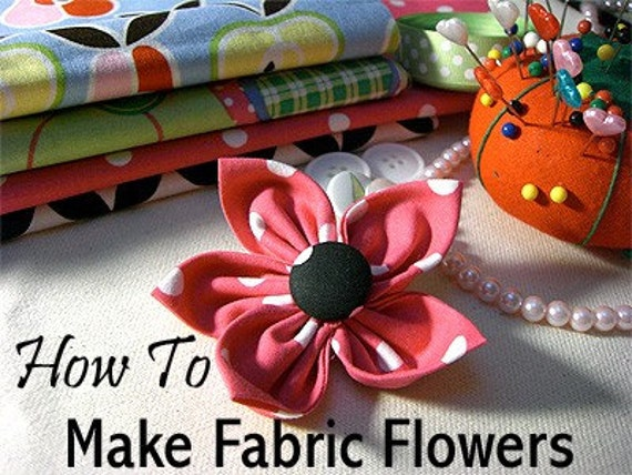 Make Fabric Flowers for Dog Collars, Instant Download, Easy-to-Follow Illustrated Tutorial