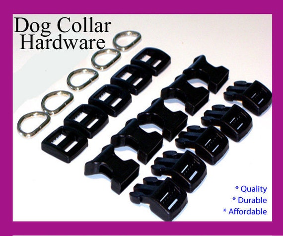 Dog Collar Hardware - Ten (10) Sets of Dog Collar Hardware