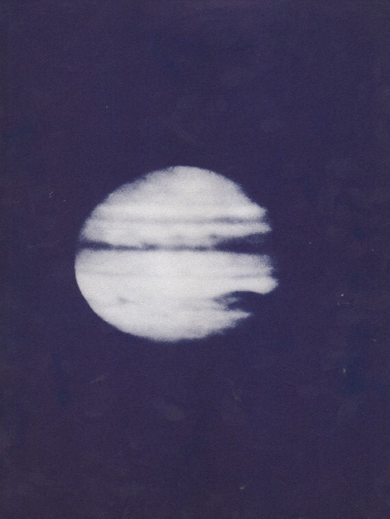 Vintage Book Plate of a Planet Jupitor from the 1950s