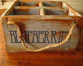 Reproduced Primitive Pine Wood Box for Berries
